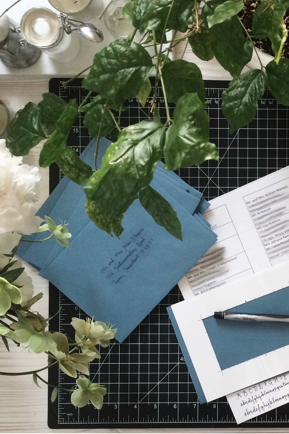 Calligraphy for invitations, place cards, and more