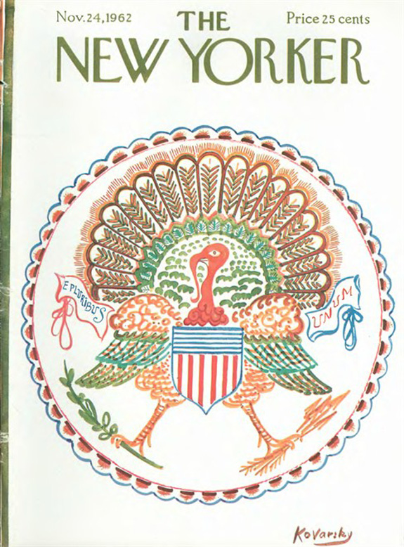 The US National Seal might have looked like this! Art by Anatole Kovarksy, from the   New Yorker    Cover Archive .