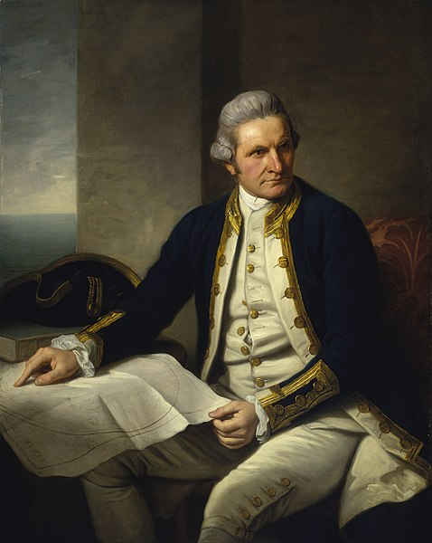 Portrait of Captain James Cook by Nathaniel Dance-Holland, 1776