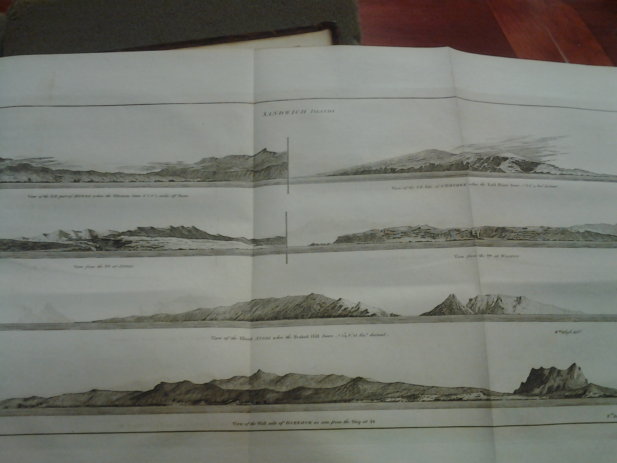 Cook's landscape profiles of the Sandwich Islands, also known as Hawaii
