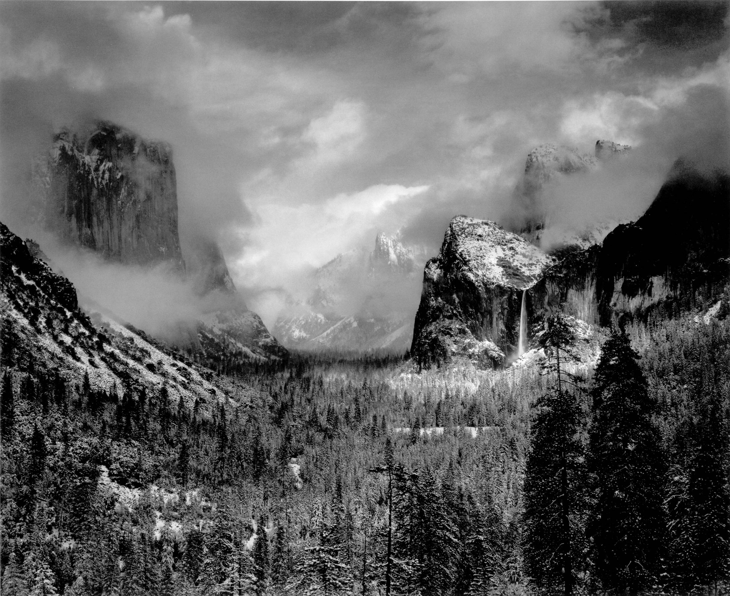 Clearing Winter Storm, Yosemite, by Ansel Adams, 1938
