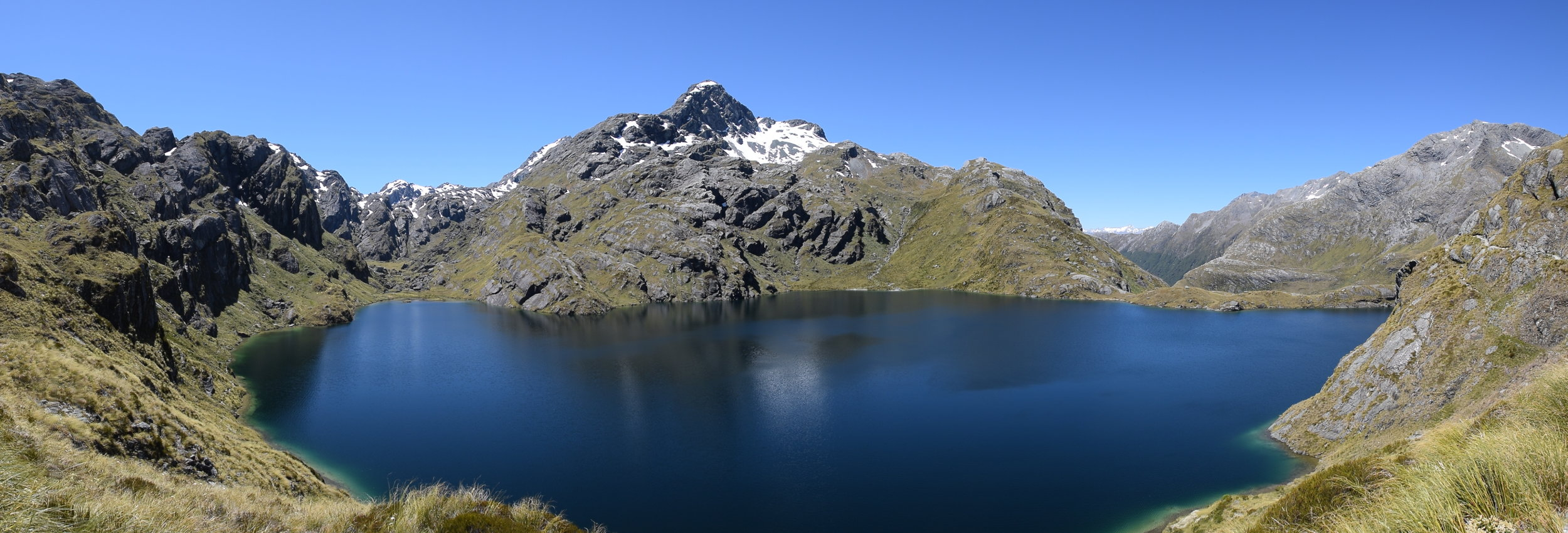Lake McKerrow at the highest of the Routeburn Track.