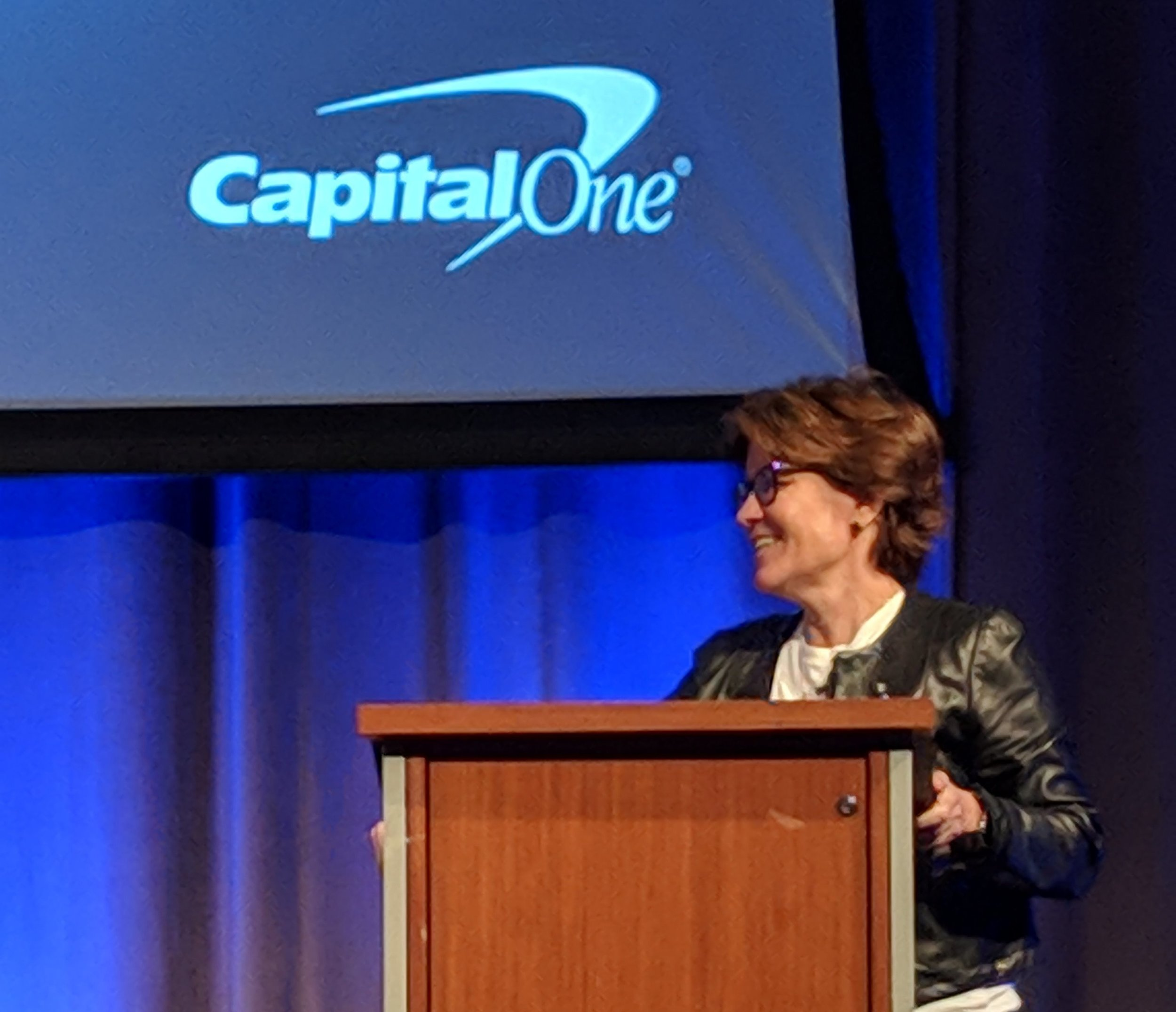 Kara Swisher at the first annual Corporate Startup Innovation Summit at the Capital One Conference Center in Plano, Texas.