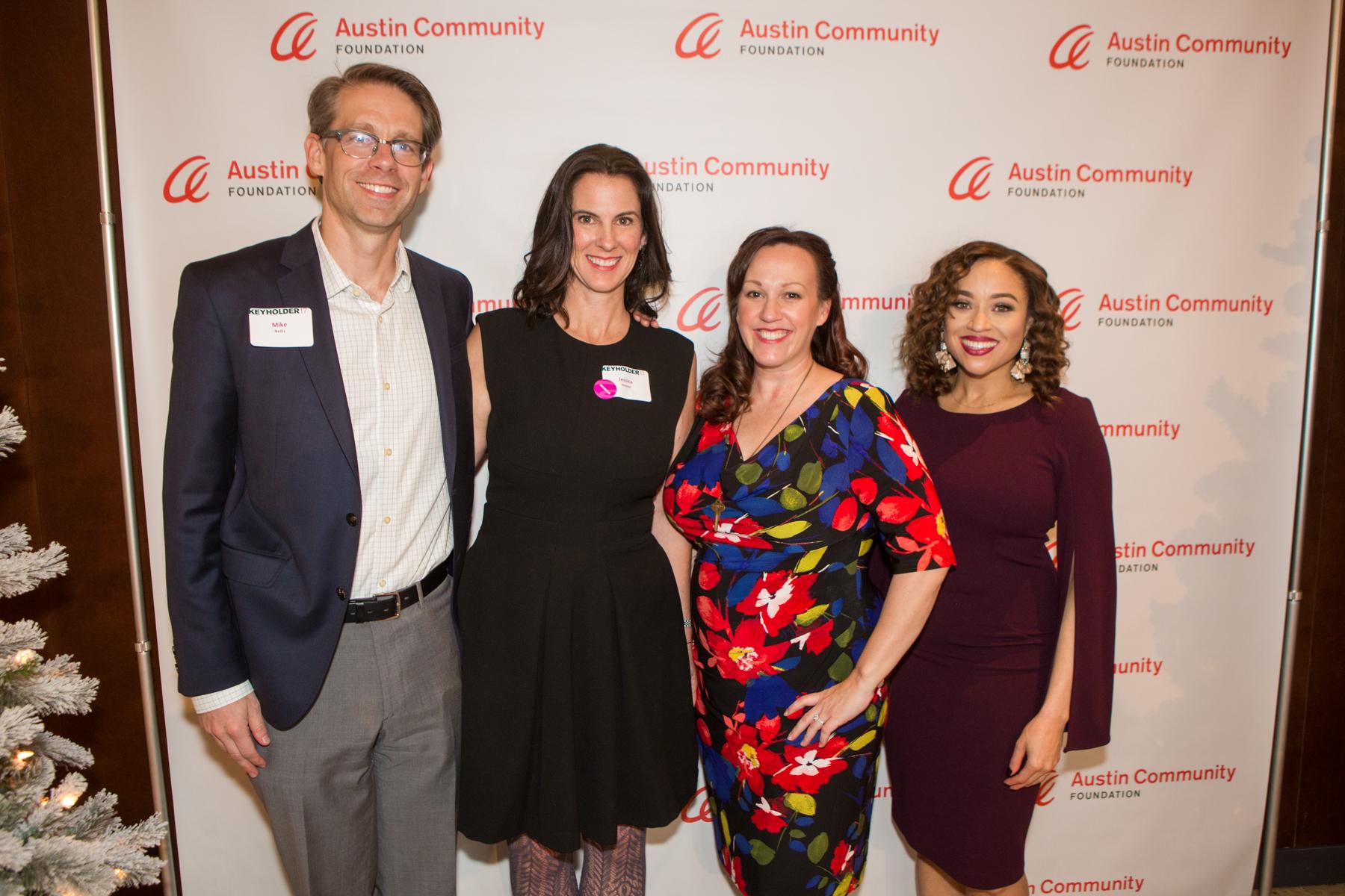 Image from Keyholder17. Left to right: Mike Nellis,Jessica Weaver, MJ Hegar, Terri Broussard Williams
