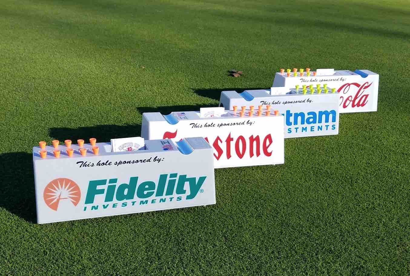 The Advertee™ Tee Marker is a new, eye-catching, value-added solution for golf tournament hole sponsorship signage.