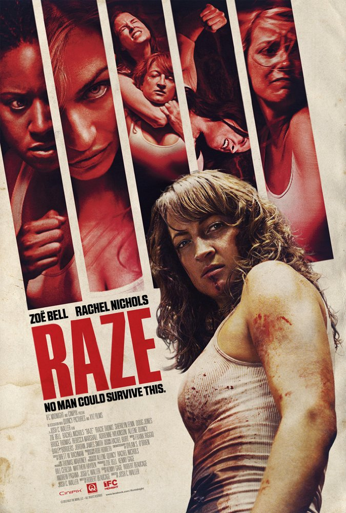 Raze (2013) Producer/Writer - Starring Rachel Nichols, Zoe Bell, Tracy Toms, premiered at the Tribeca Film Festival and distributed by IFC US and Celluloid Dreams Int. http://www.ifcfilms.com/films/razeTrailer:https://www.youtube.com/watch?v=Id29tVGhbFA