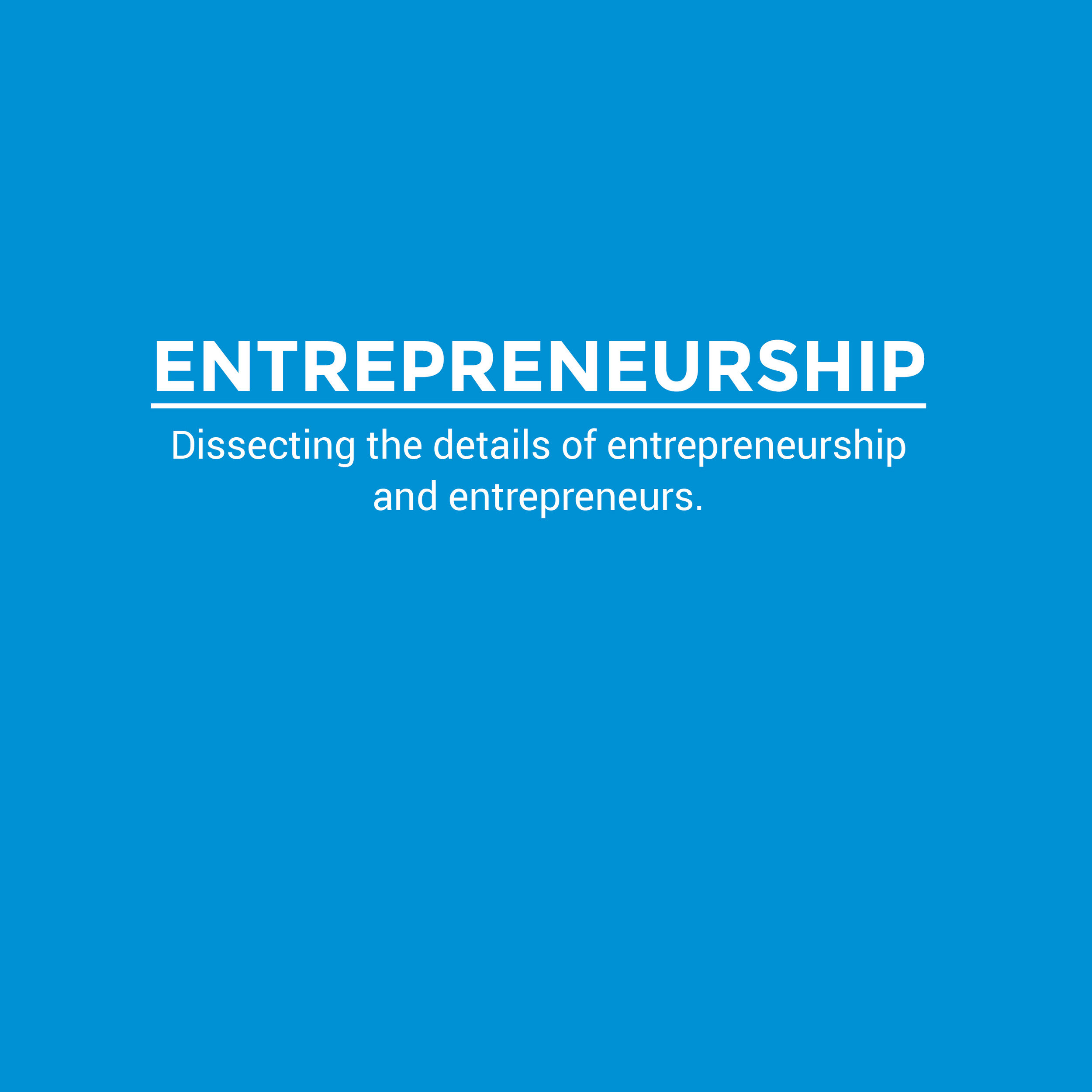What exactly is entrepreneurship? Entrepreneurs play a significant role in our society. They are major players in the growth of jobs and the overall economy and they are often the drivers of innovation in many sectors. In this online session, we lift the hood on entrepreneurship and take a closer look at the mechanics behind this age old concept  here.