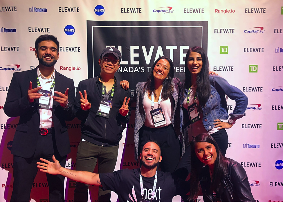 In the picture, from the upper left to the right: Shah Suhail, from Master Mind Media (LOI Labs venture); David Luong, LOI Connector; Daniela Pico, LOI Connector; Sarosha Imtiaz, from Aiva Labs (LOI Labs venture); Felipe Soares, LOI Team; and Manisha Narula, LOI Team.