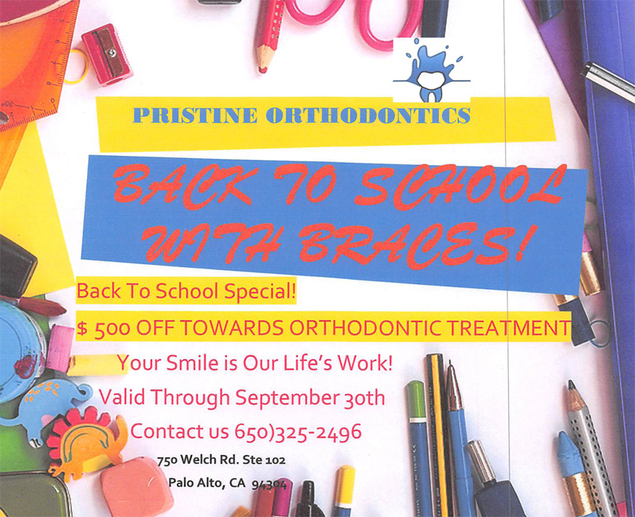 Back To School Special! $500 Off Towards Orthodontic Treatment