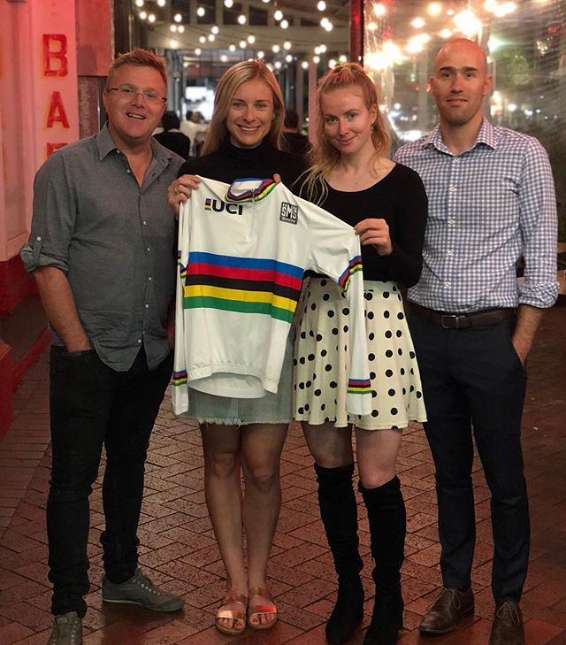 What a brilliant evening celebrating the success of the current world champions @nettieedmo and @alexandramanly. We look forward forward to following their journey through to Tokyo 2020 and beyond. 🌈🌈 #worldchampions #ucitrackworldchampionships #athletes #inspirational #cycling #aussiecycling #cyclingaustralia #australiancyclingteam #thriving