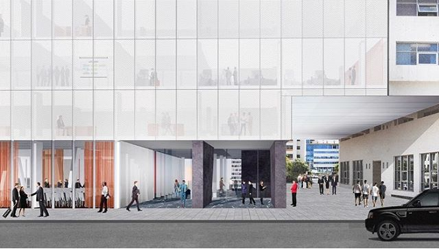 Our competition entry for the Morocco Ministry of Culture HQ in Rabat - an abstract representation of the the entire permitted envelope with a central atrium which accommodates the conference centre - 2018 #rabat #architecture #interiordesign #abstract #white #culture #ministry #hq #lobby #conference #conferenceroom #atrium #courtyard #competition #rendering #wrap #glass #translucent