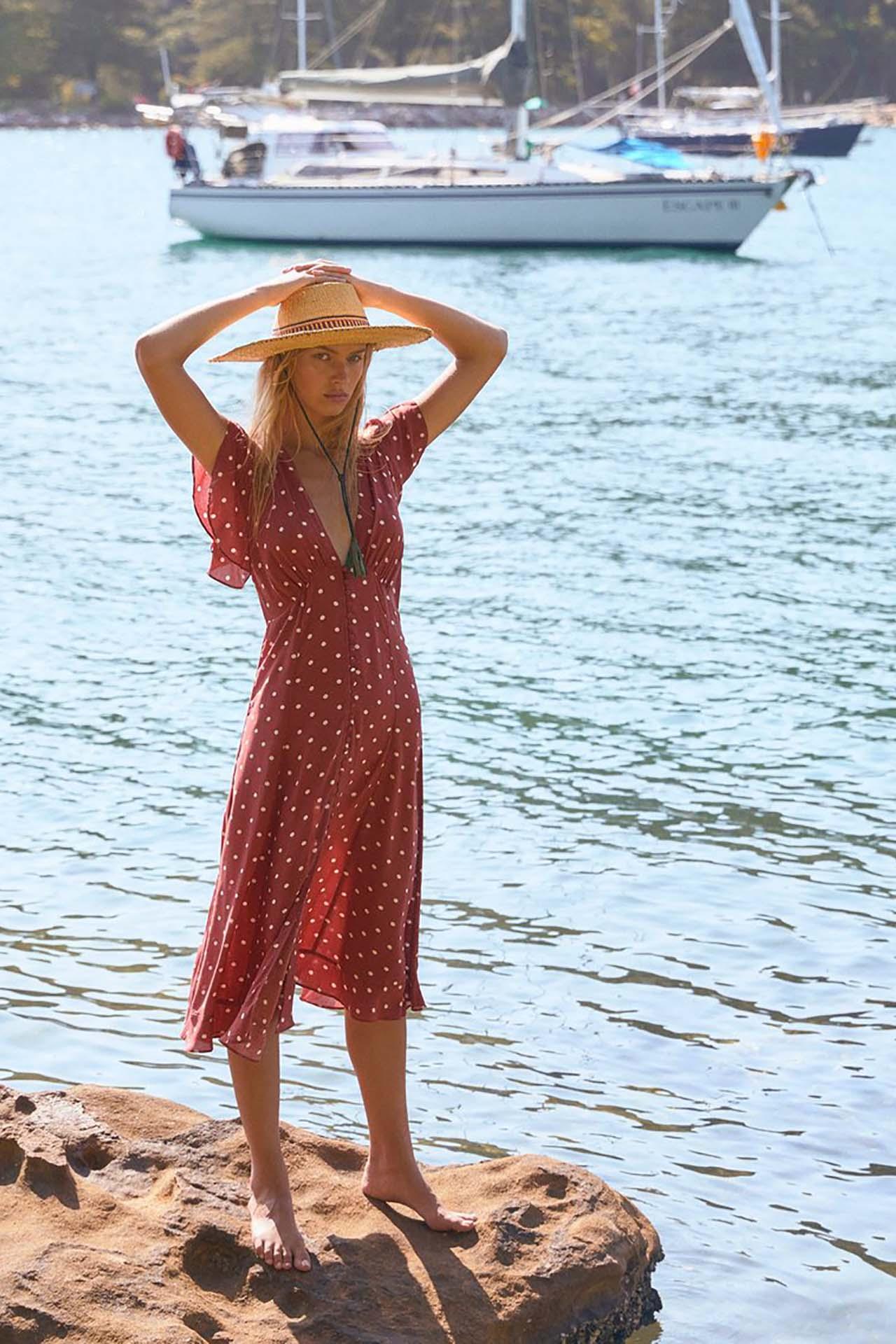 Polly Sunday Midi Dress
