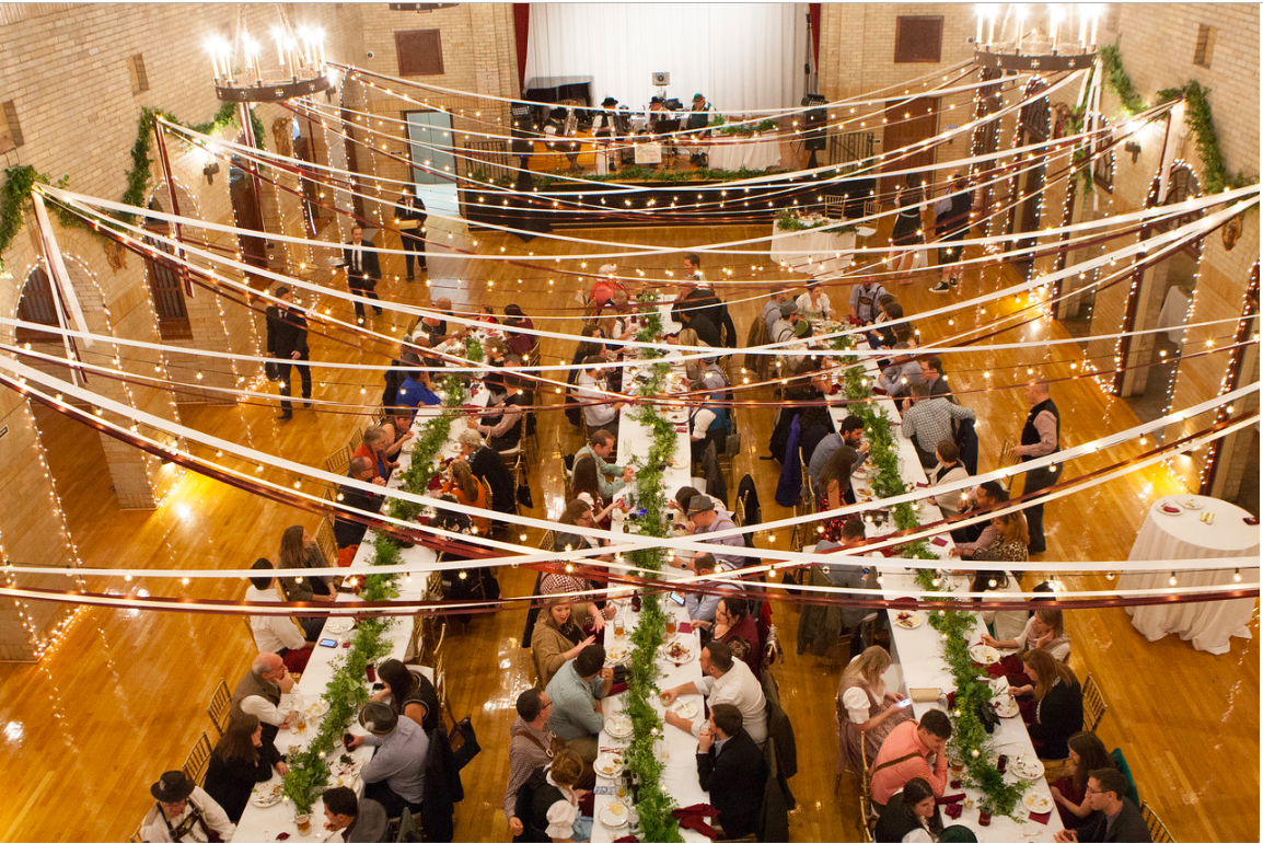 DC Wedding // St. Francis Hall decorated by S&P Events & The Miner Details