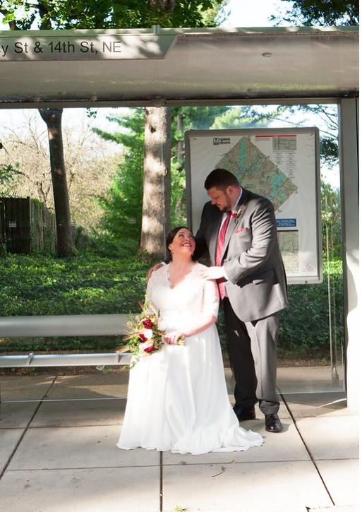 DC Wedding // Couple portraits outside of St. Francis Hall