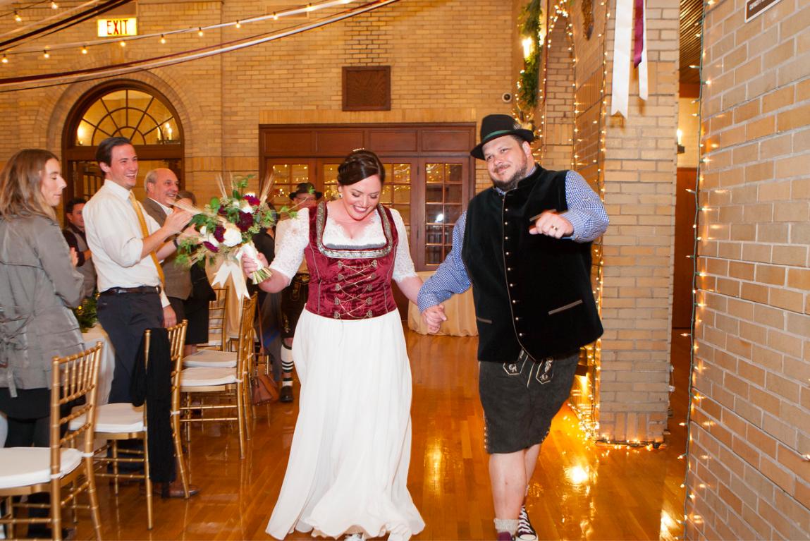 DC Wedding // Grand entrance St. Francis Hall