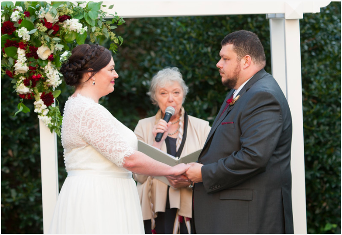 DC Wedding // Ceremony Vows at St. Francis Hall