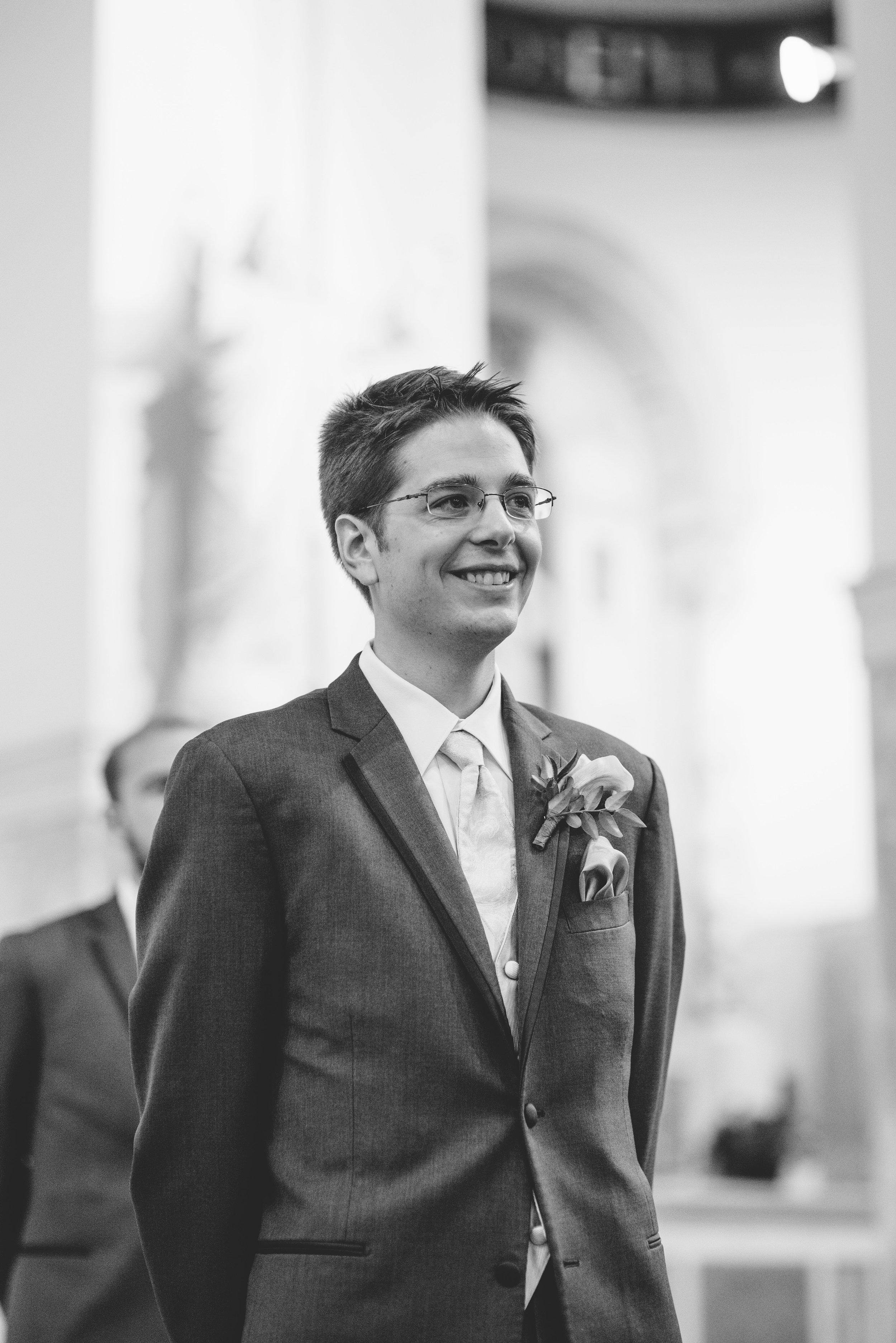 First look groom // The Miner Details weddings