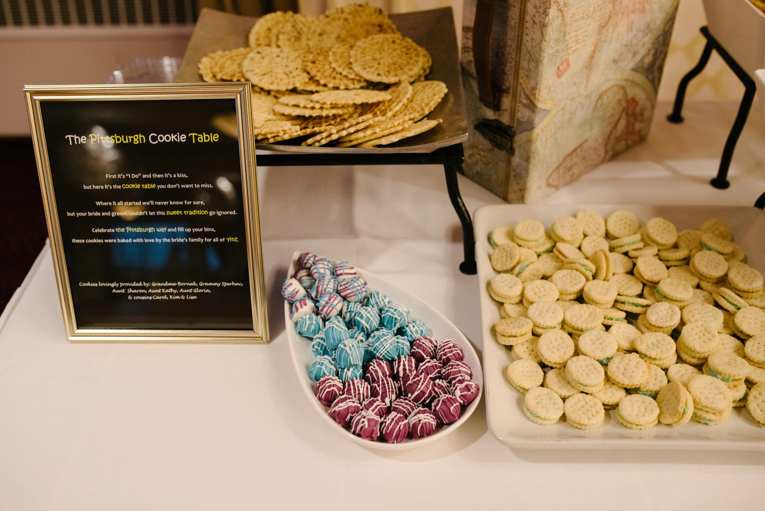 Wedding cookie bar // The Miner Details weddings