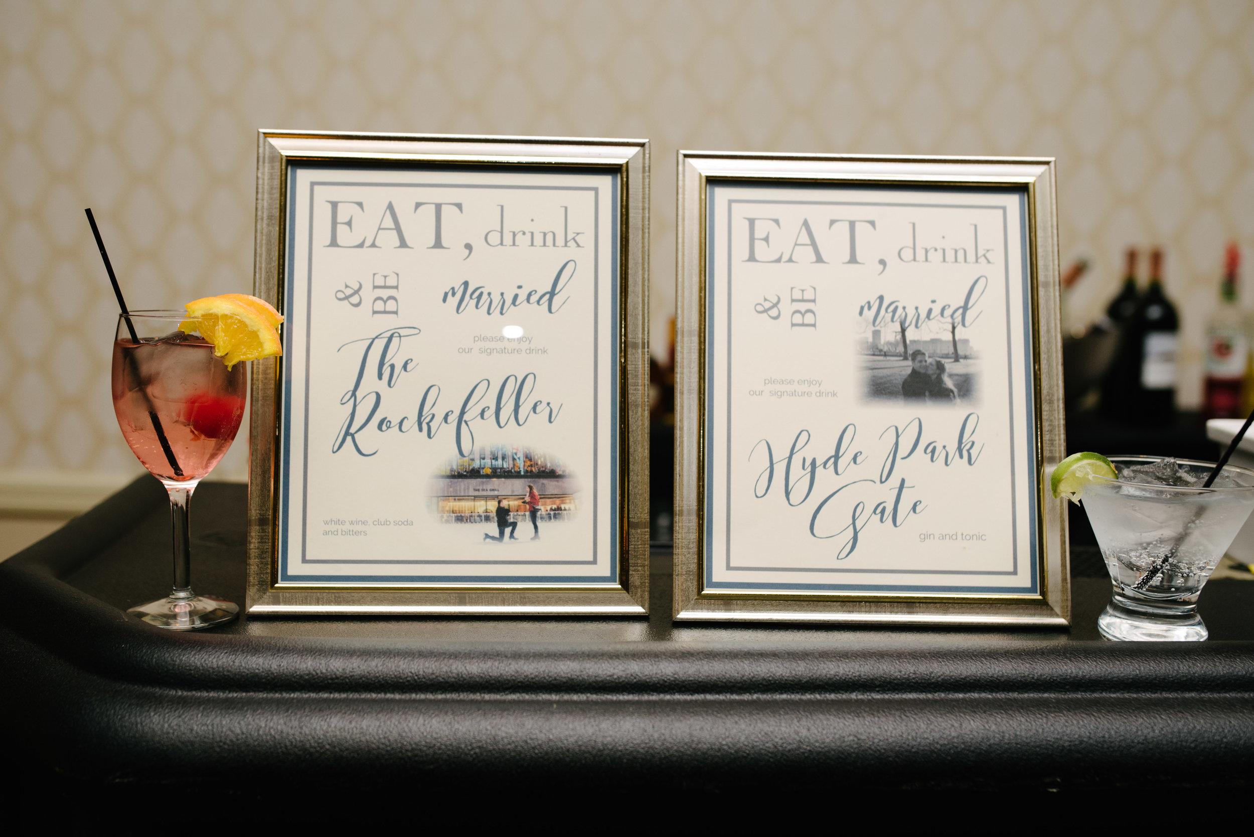 Wedding signature cocktails // The Miner Details weddings