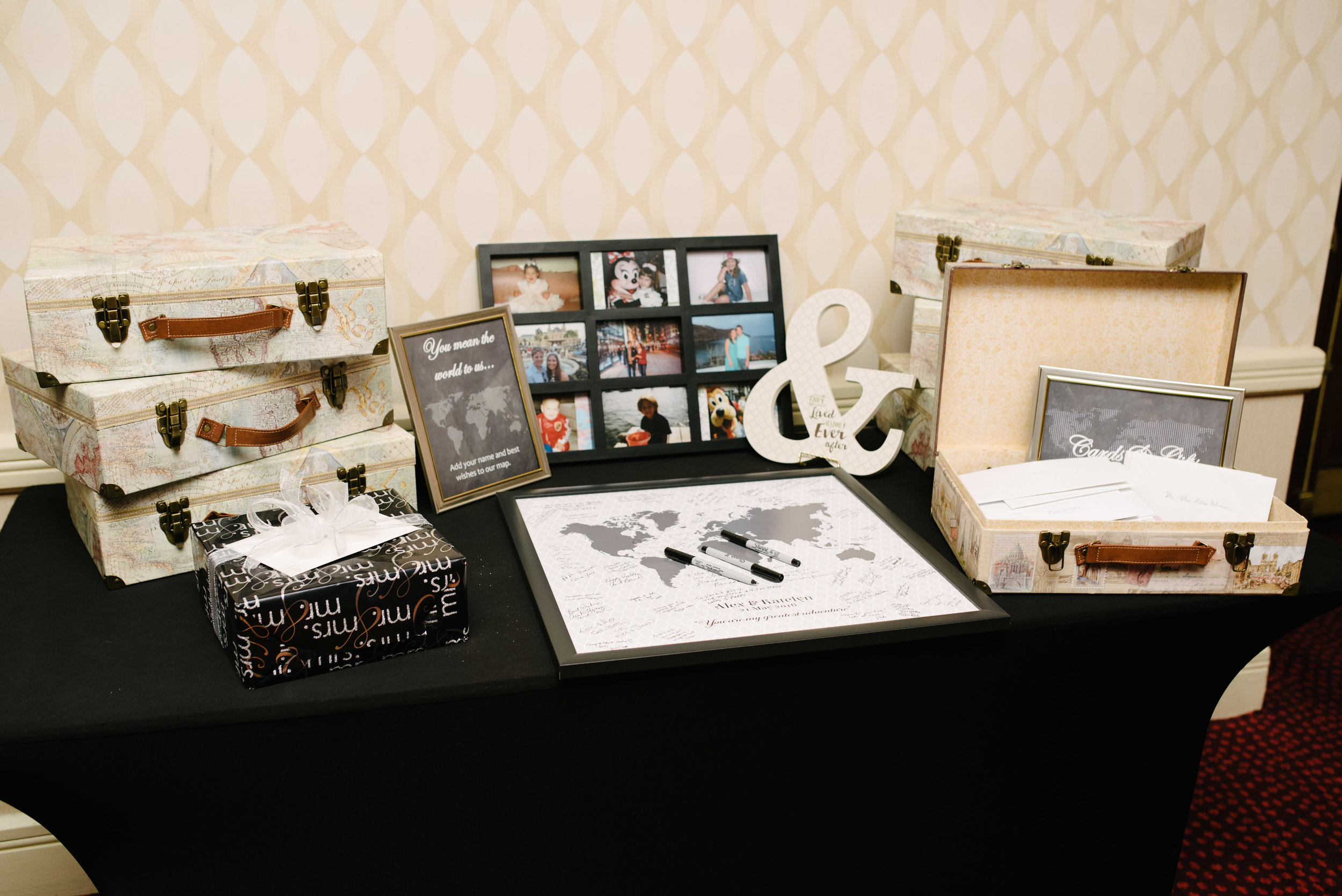 Travel themed wedding reception details // The Miner Details weddings
