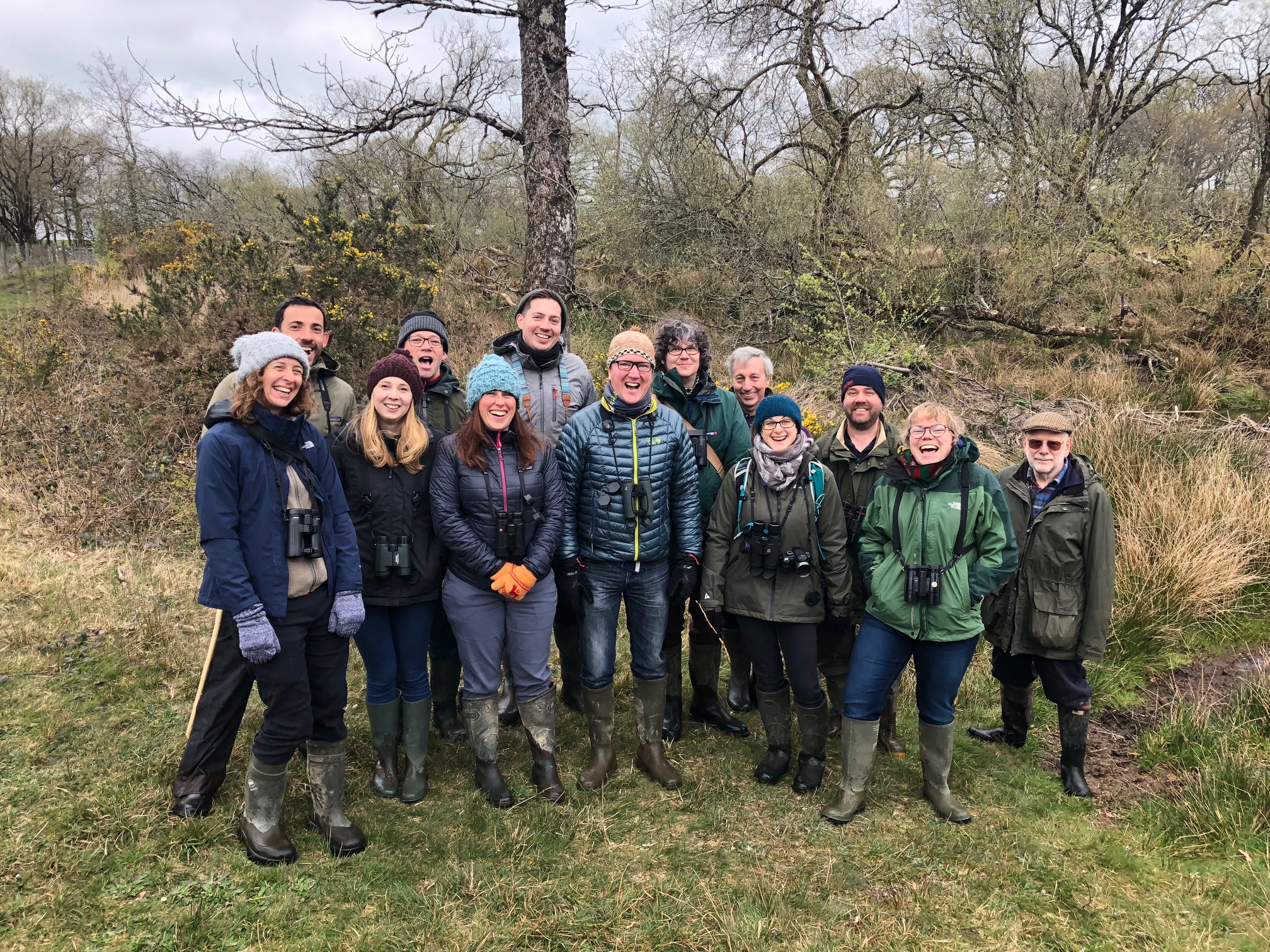 Safari leaders on tour to the Devon Beaver Project