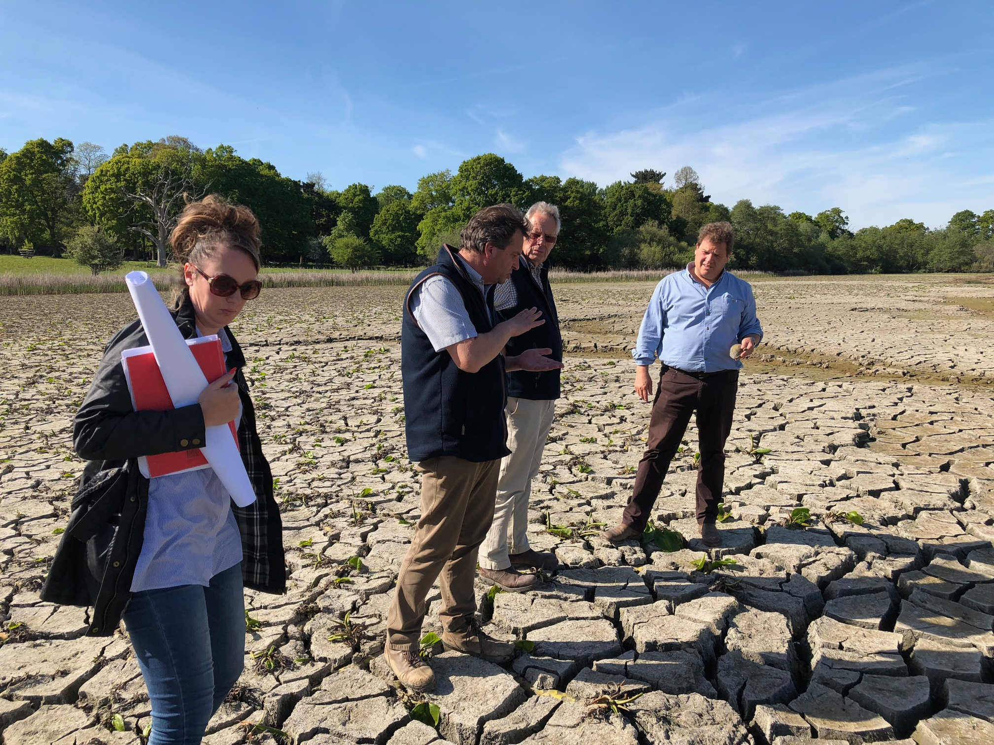 Contemplating the drying silt – one advantage of a dry Spring