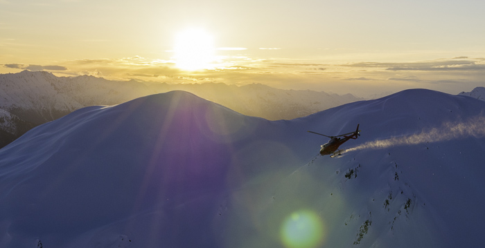 Sunrise on comp day in Haines, over 100 people had to get heli lifted to the remote venue location