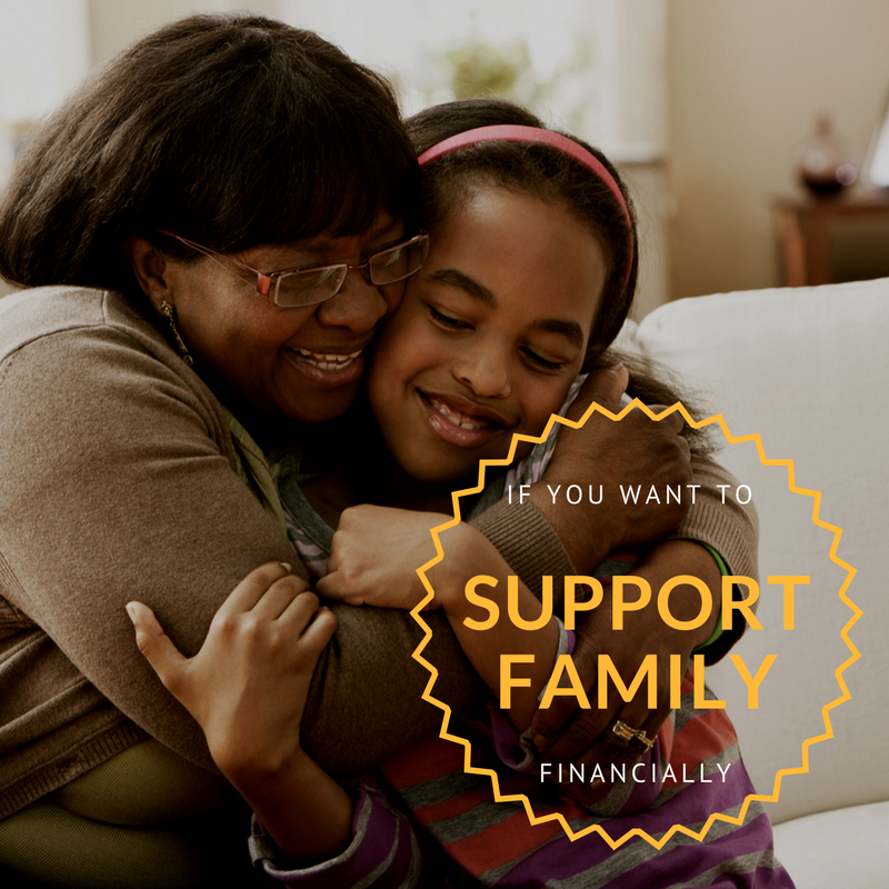 You want to help family - A lack of personal resources can make retirement difficult sometimes. You're worried about your family and how they'll cope without the extra income you're bringing home. You want to diversify and create an online income stream.