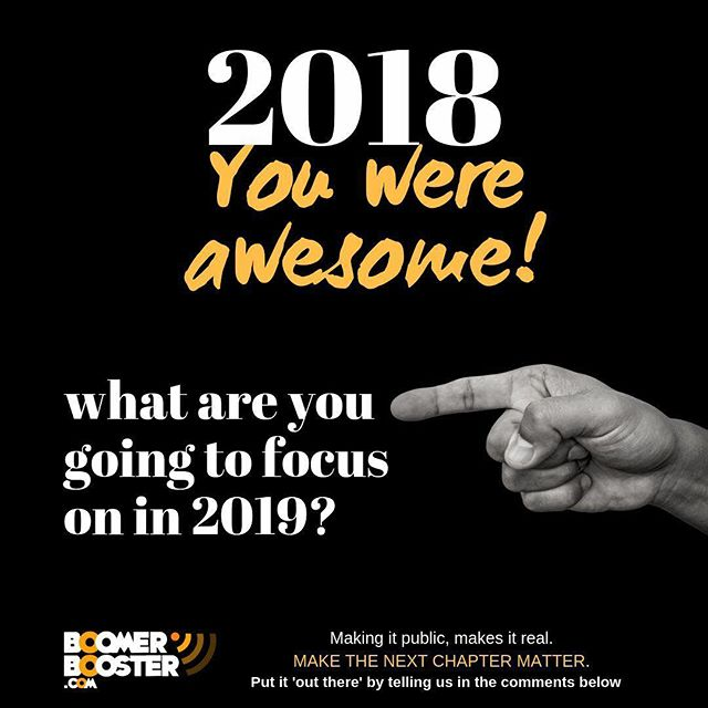 2018 is done and it was awesome!! Celebrations are done, reminiscing and reconnecting is done, avoiding the pressure from others to make resolutions is done.  Now it is time to take a look at the year ahead and focus on YOU. What do you want life to look like in 2019. Are you going to start something, stop something? Make a change?  TELL US in the comments below - When you make it public, it makes it real! Make the next chapter matter! #2019  #goals
