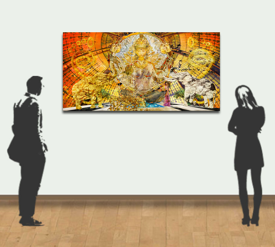 Demo example of a 150x75cm 60x30 in)piece
