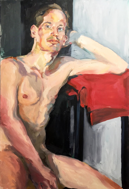 German Male Model Life Painting