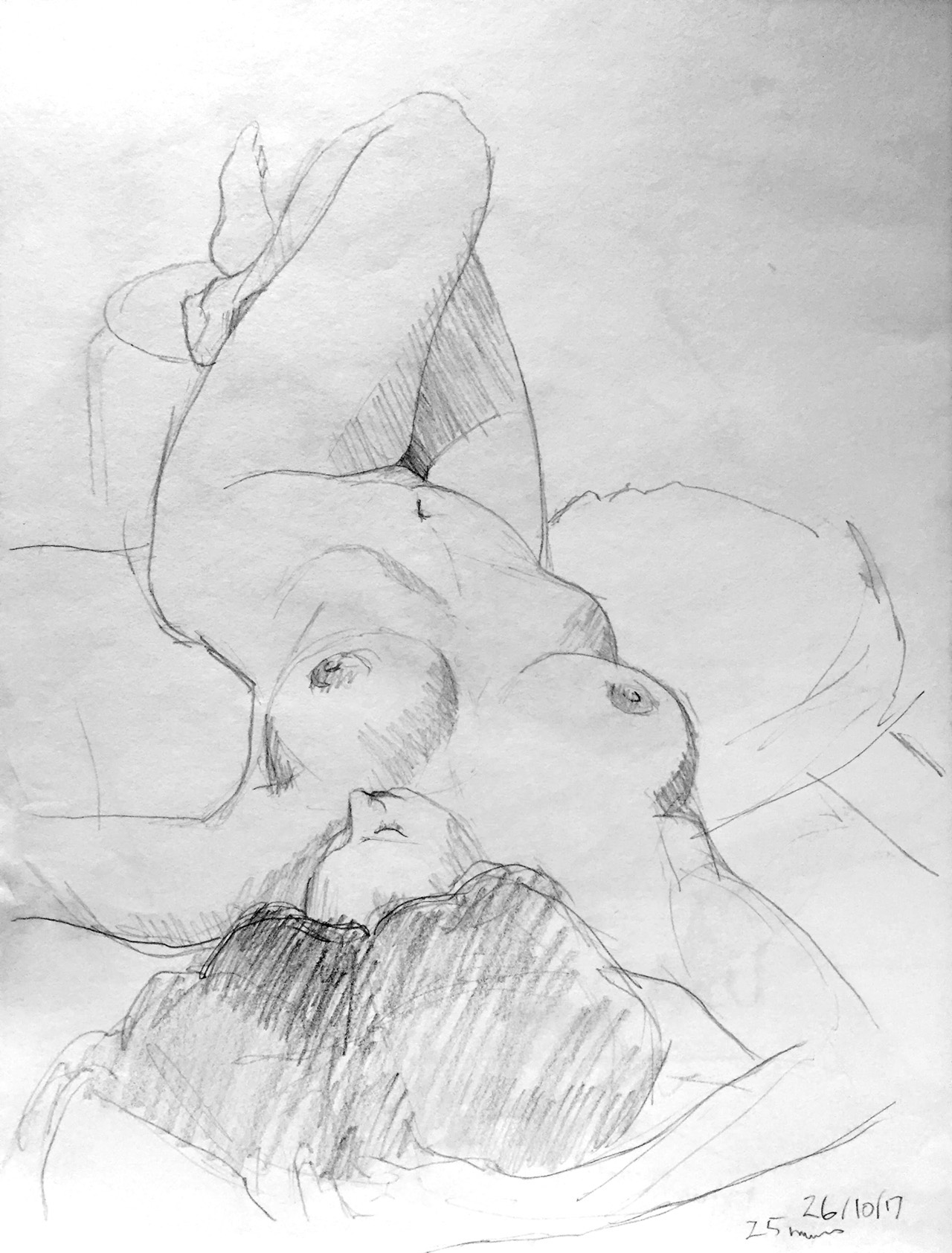 Life Drawing Sketch 1 Session 26/10/17