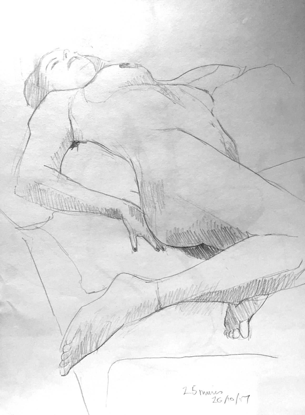 Life Drawing Sketch 2 Session 26/10/17