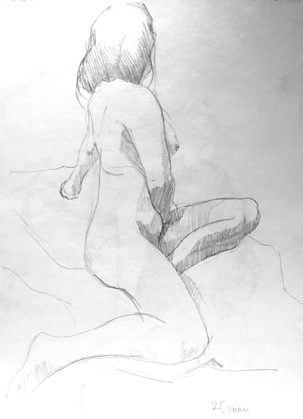 Life Drawing Sketch 3 Session 26/10/17