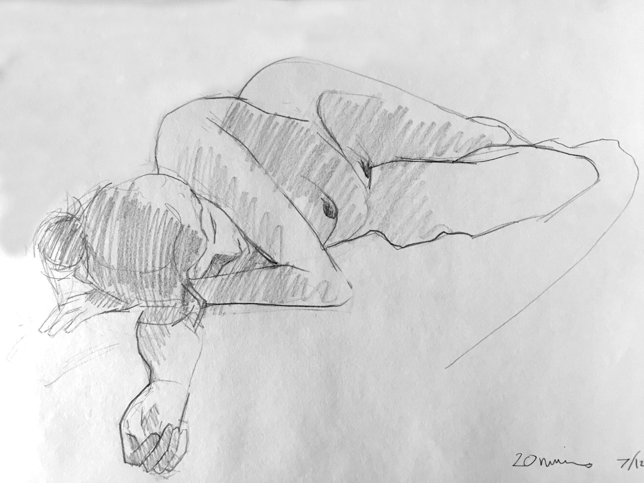 Life Drawing Sketch 2, Session 7/12/17