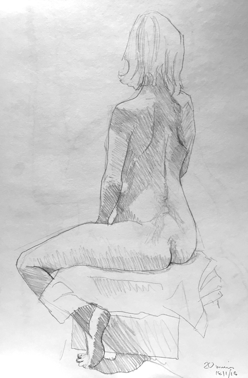 Life Drawing Sketch 2 18/1/18