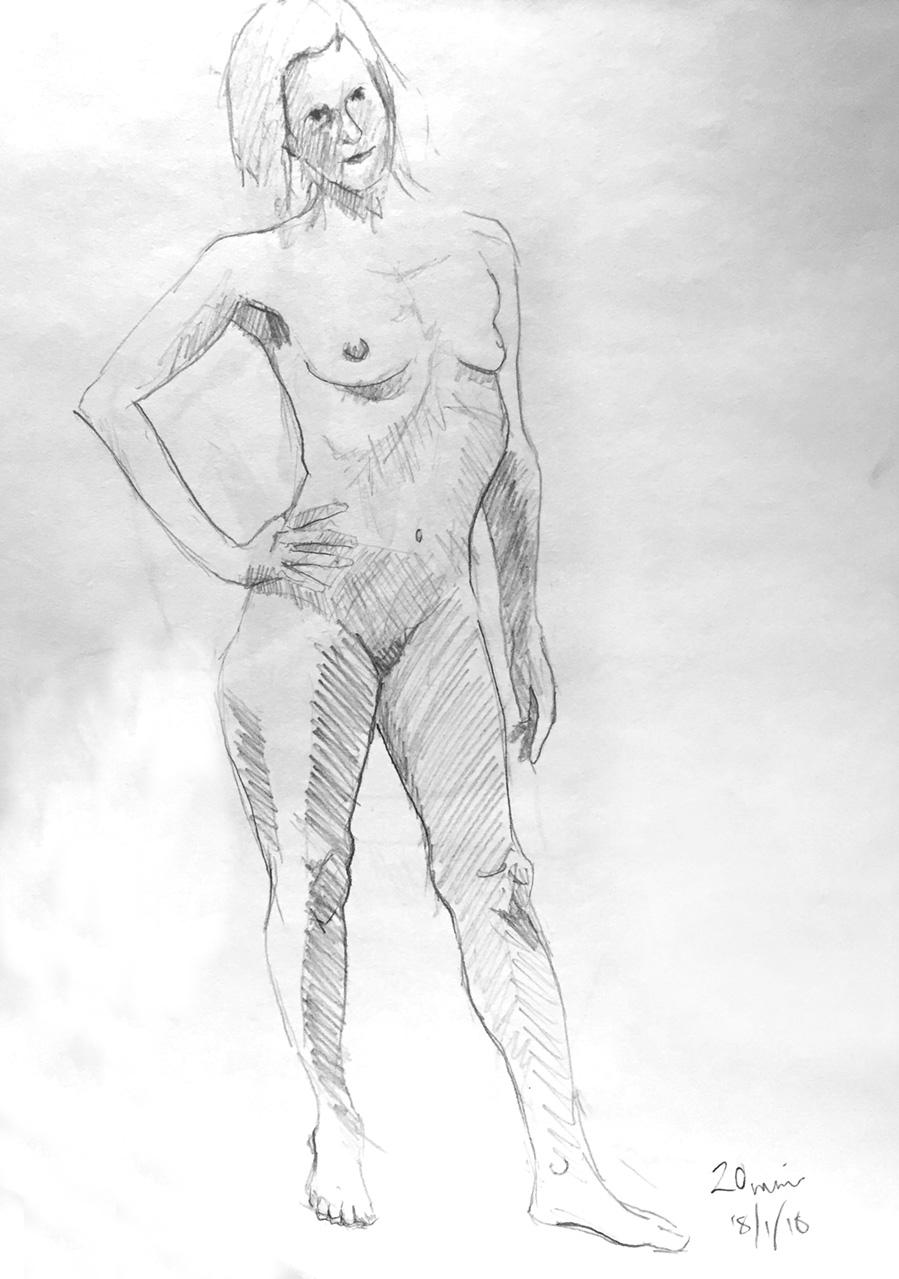 Life Drawing Sketch Session 18/1/18