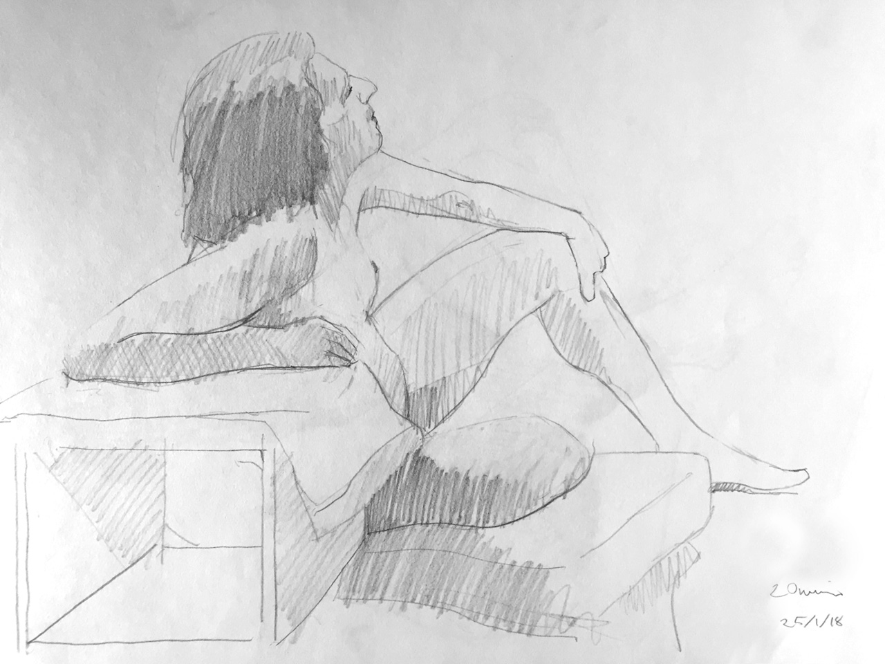 Life Drawing Sesssion 25/1/18