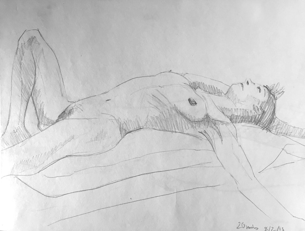 Life Drawing Sketch 8/2/18