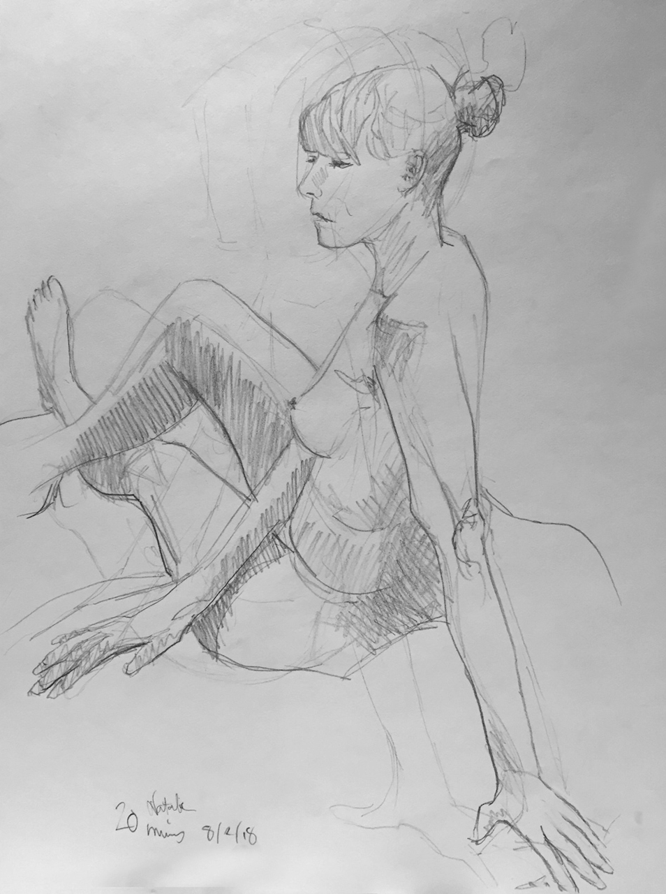 Life Drawing Session Sketch 2, 8/2/18
