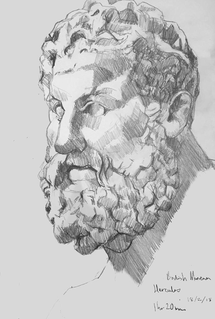 Sketch of Hercules British Museum 18/2/18