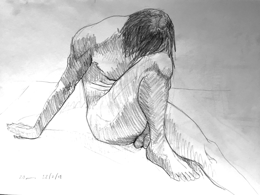 Life Drawing Session Sketch 2, 22/2/18