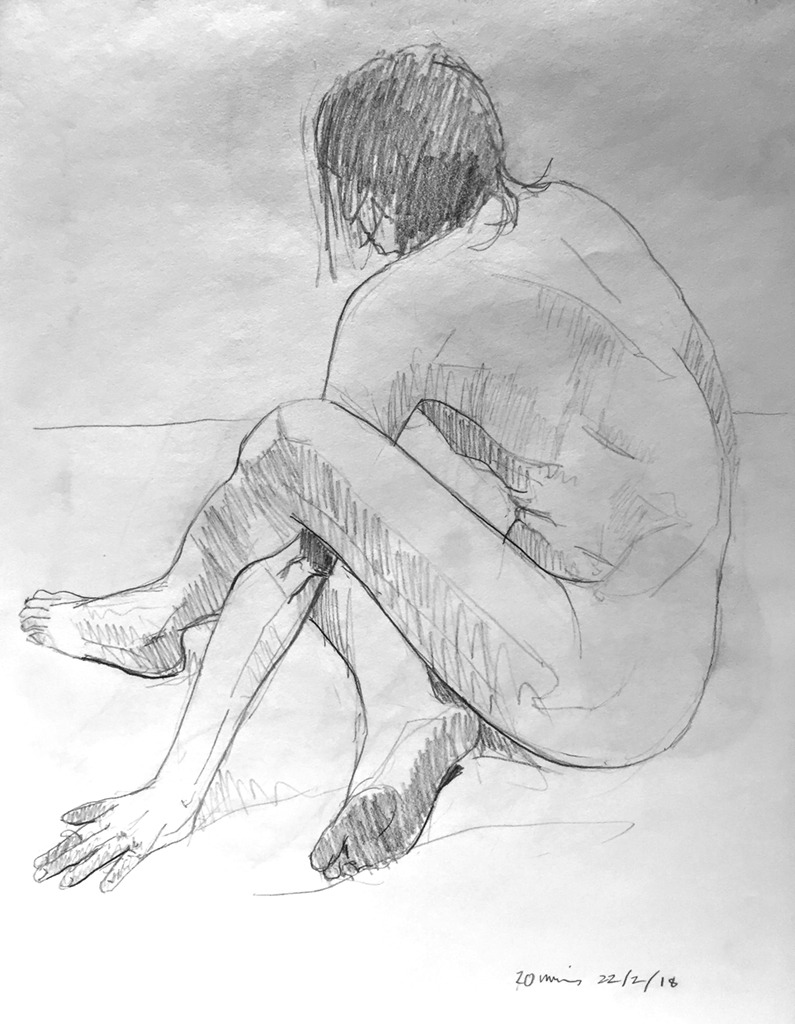 Life Drawing sketch 1 Session 22/2/18