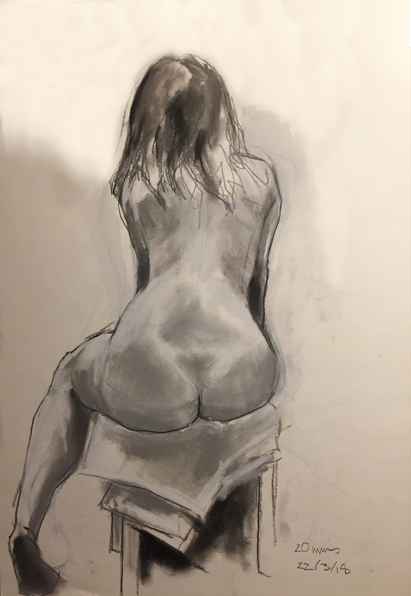 Life Drawing Sketch 1 Session 22/3/18