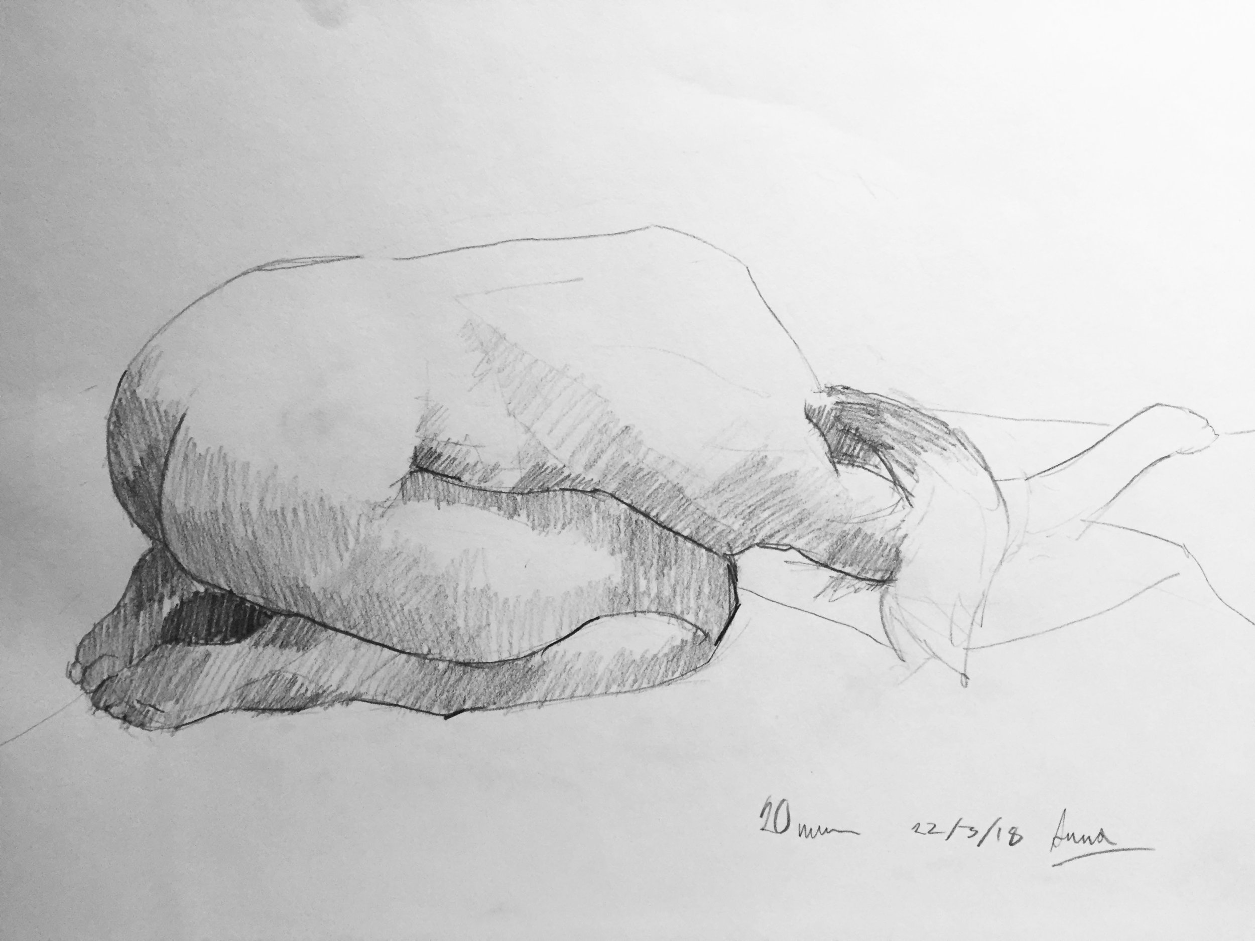 Life Drawing Sketch 2 Session 22/3/18