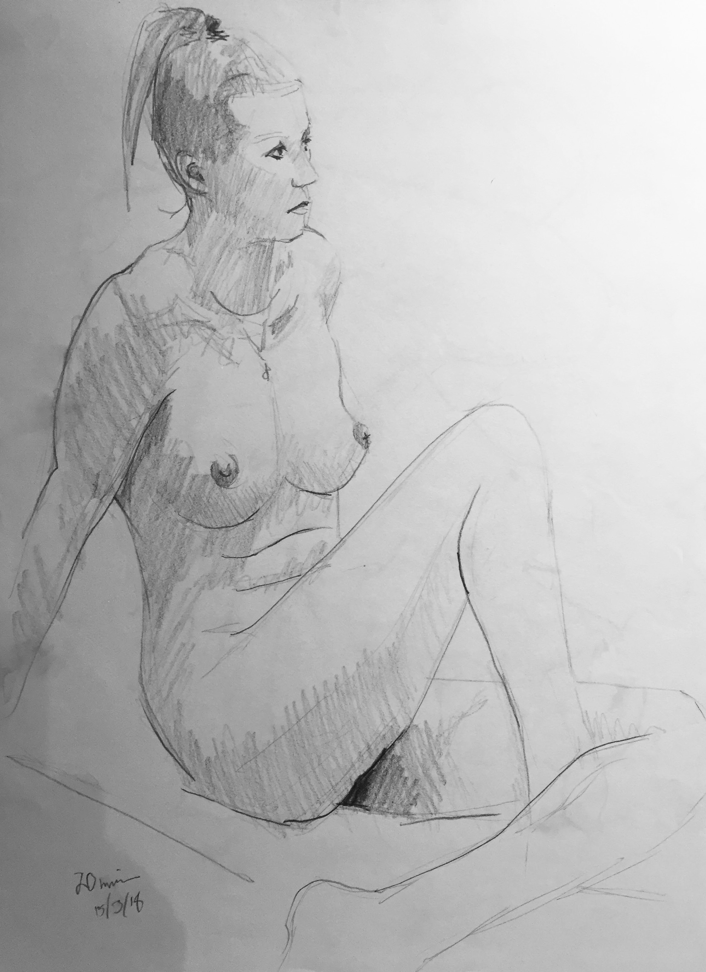 Life Drawing Sketch 1 Session 15/3/18