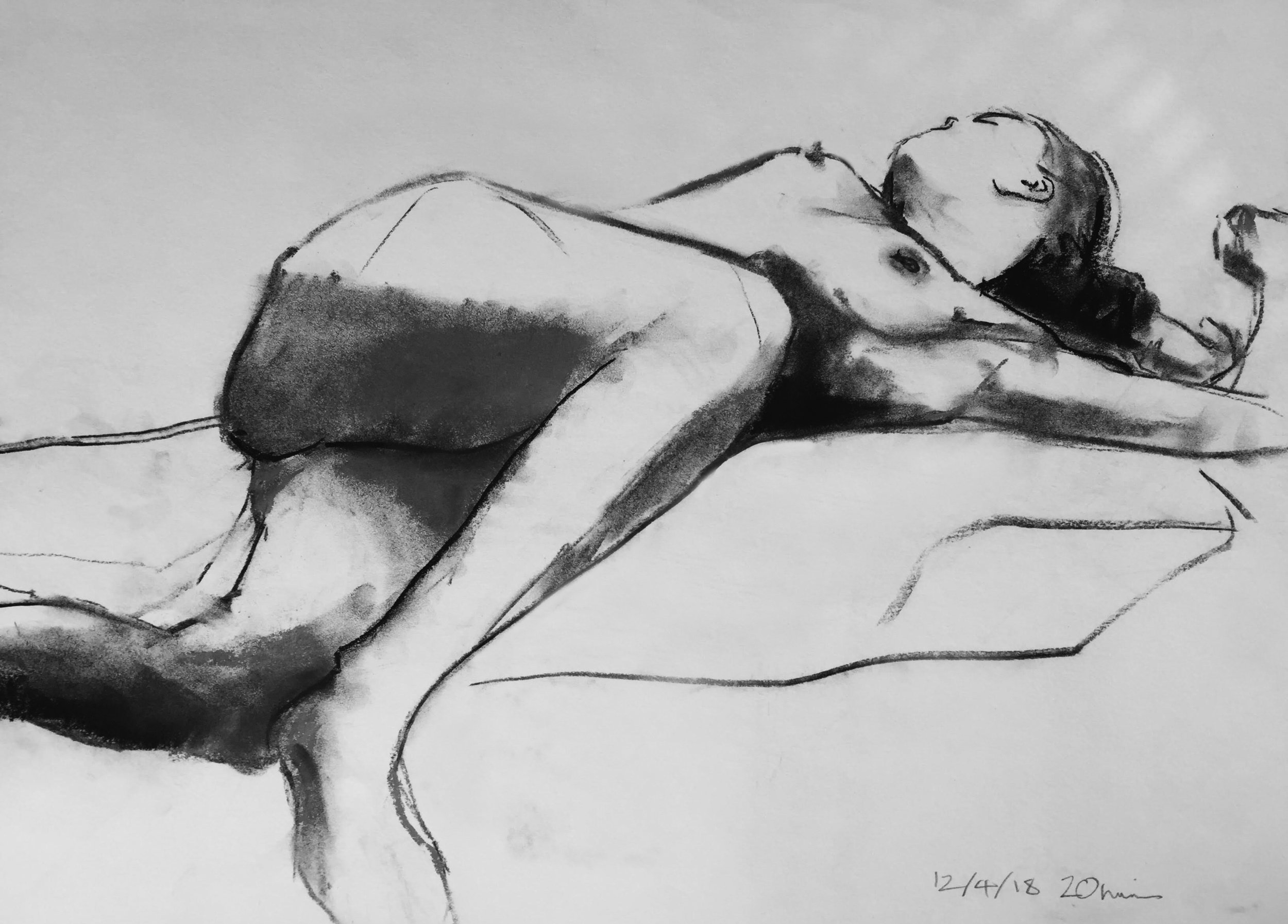 Life Drawing Sketch Session 12/4/18