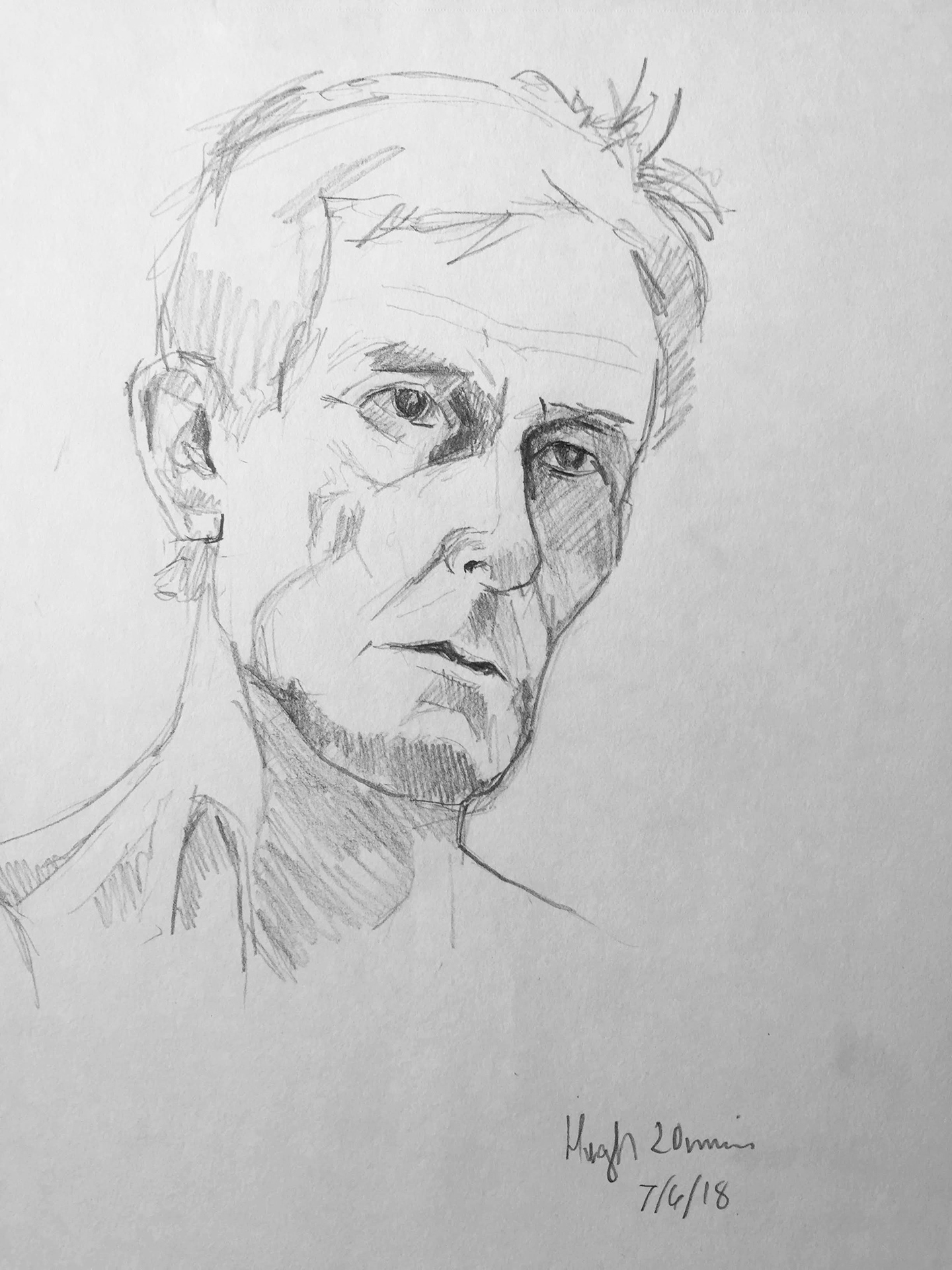 Life Drawing Sketch 1, 7/6/18