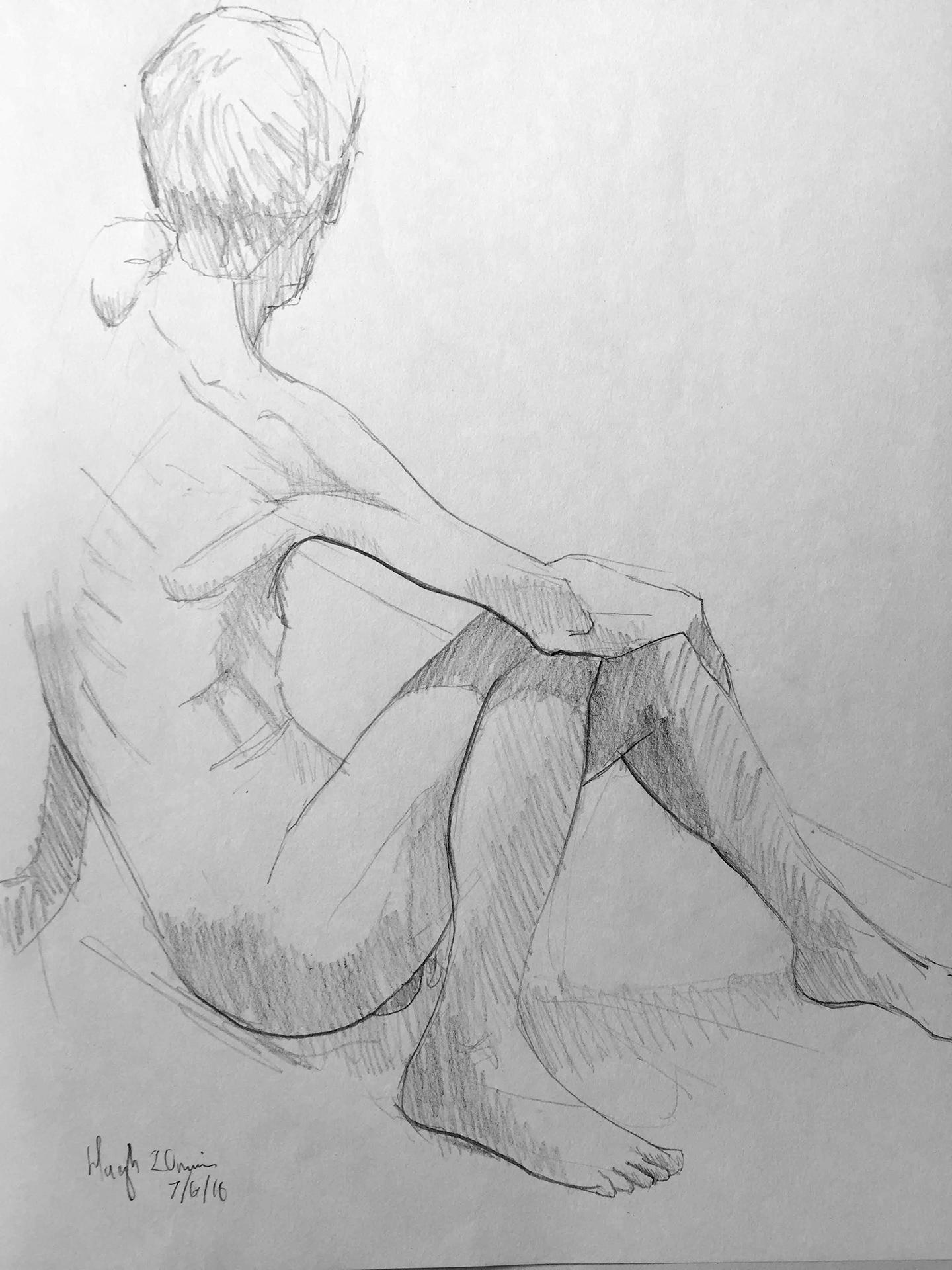 Life Drawing Sketch 2, 7/6/18