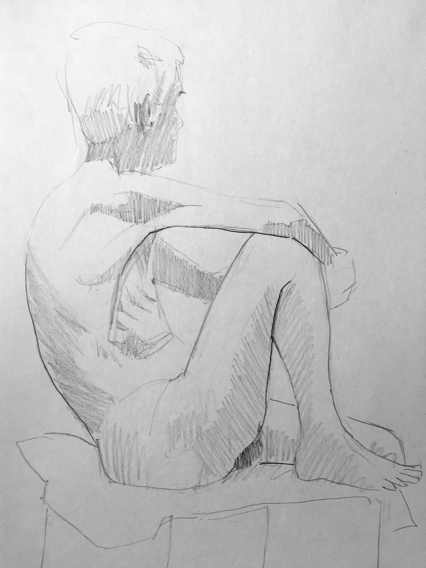 Life Drawing Sketch 3, 7/6/18
